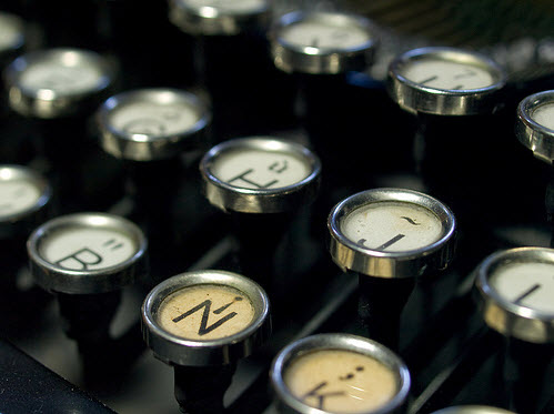 typewriter - by rahego, via Flickr Creative Commons